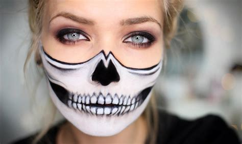half face halloween makeup ideas magment
