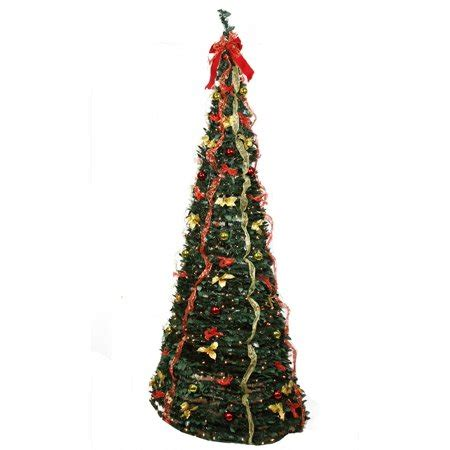 pop up christmas trees at walmart 9 pre lit pop up decorated gold artificial tree clear lights walmart