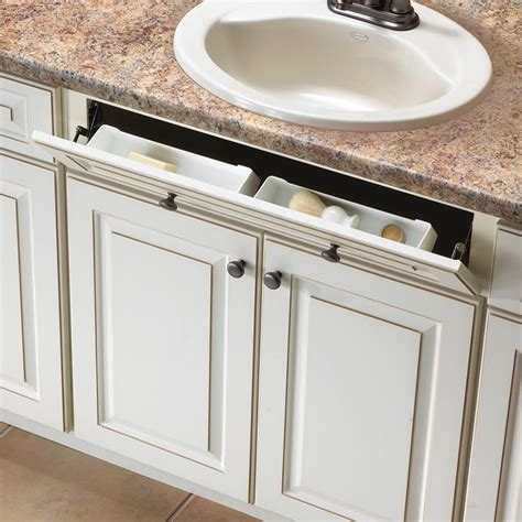 Kitchen Sink Storage Trays Knape Vogt 3 In X 11 In X 2 In Polymer Sink Front Tray With Hinges Cabinet Organizer