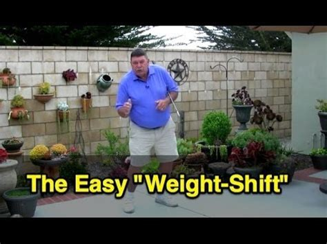 golf swing weight shift golf swing easy weight shift youtube