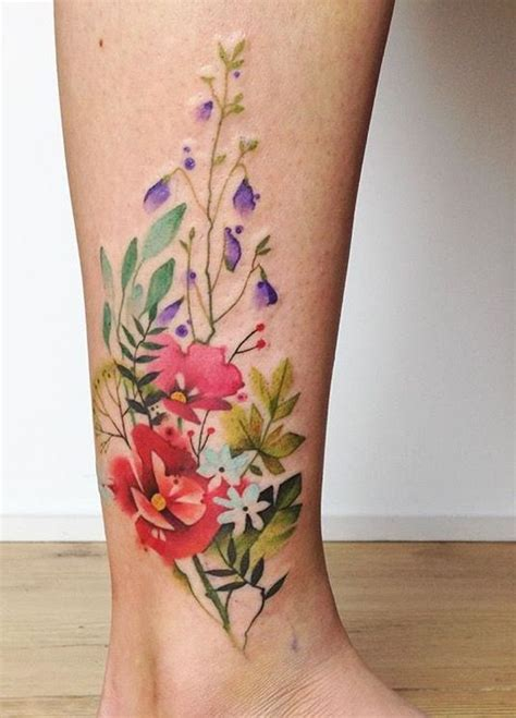 watercolor tattoo wildflowers 40 breathtaking watercolor flower designs amazing