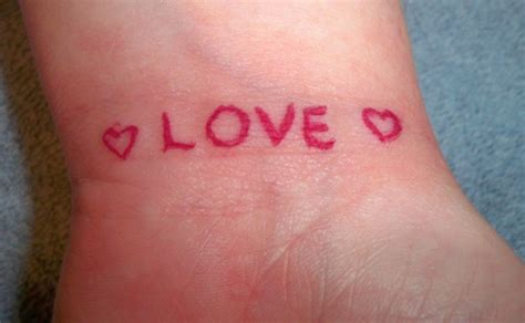 love word tattoo designs 78 tattoos designs for your wrists