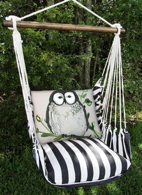 owl swing black owl hammock chair swing set gardenfun com