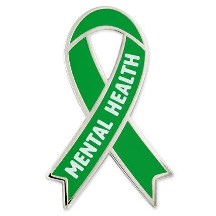 mental health awareness month color awareness ribbon pin mental health pinmart