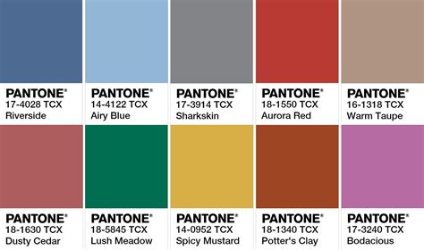 pantone 2017 color 28 fall 2017 pantone colors pantone farbpalette