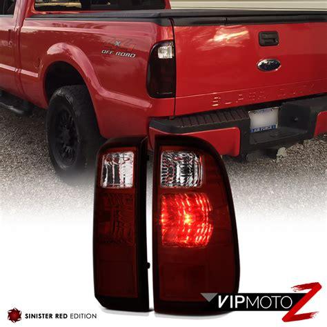 2008 f250 tail lights 2008 2016 ford f250 f350 f450 superduty sd dark red rear