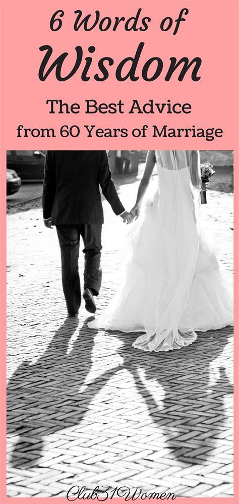 words  wisdom   advice   years  marriage club  women