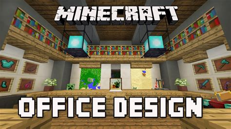 Minecraft Office Desk by Minecraft Tutorial How To Build A Modern House Ep 8 Cool