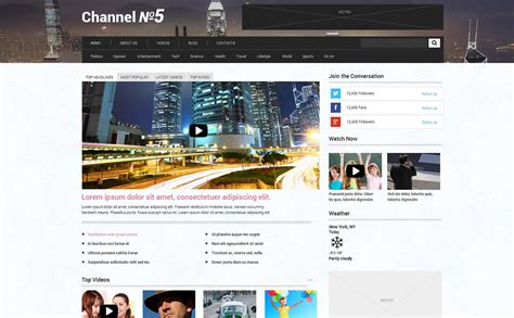 wordpress themes for live tv tv channel responsive wordpress theme 48633