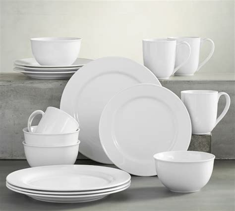 pottery barn china great white rim dinnerware pottery barn