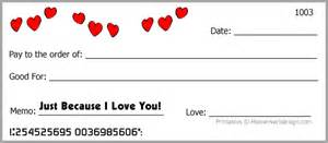 free printable blank love checks coupons