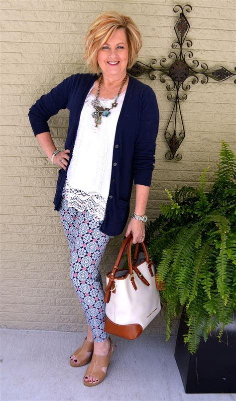 fashion for 48 year old woman printed leggings are not for the faint of heart 50 is