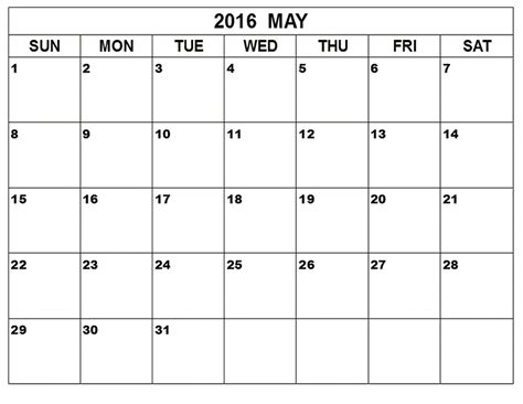Kalender 2016 Blanko May 2017 Weekly Printable Calendar Blank Templates