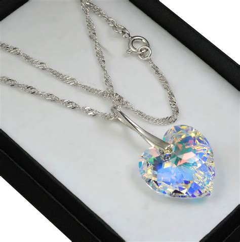 I Necklace 925 silver necklace made with swarovski crystals