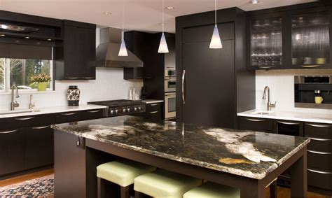 modern kitchen countertops and backsplash glass tile backsplash kitchen contemporary with wood