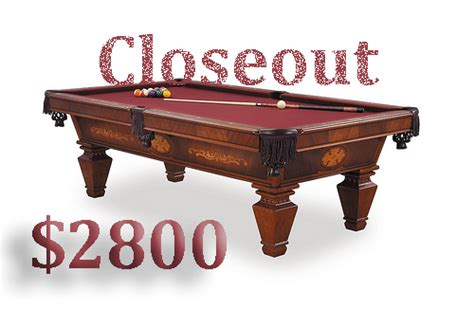 pool table clearance items
