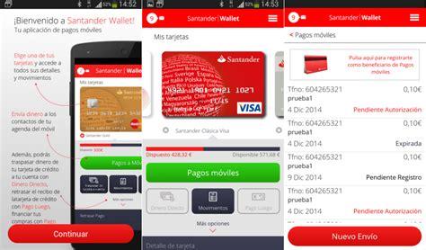 santander movil santander wallet paga con tu m 243 vil en comercios f 237 sicos