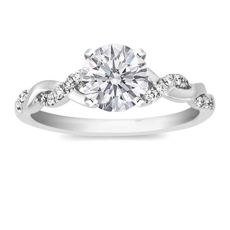 Twisted Band Engagement Ring - 25 best ideas about twist engagement rings on