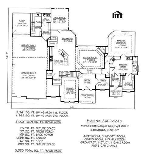 3234 0411 square feet 4 bedroom 2 story house plan 3602 0810 square feet 4 bedroom 2 story house plan four