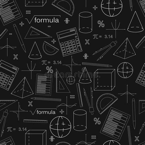 geometric pattern solver math seamless black pattern linear style stock vector