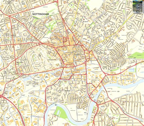 Nottingham Address Finder Nottingham Offline Map Including The Centre Broadmarsh The Park