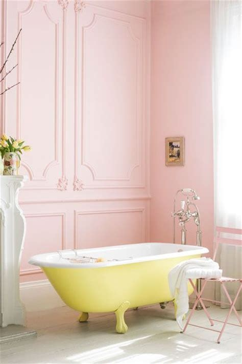 red and yellow bathroom vintage bathroom decor french detail pink walls high