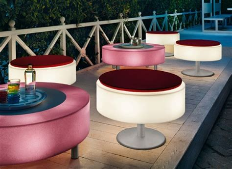 illuminated furniture light up patio furniture by modoluce