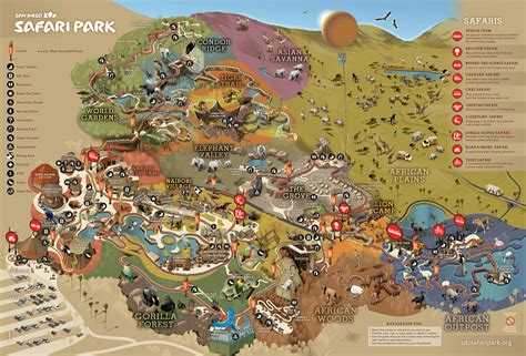 map san diego zoo safari park park map san diego zoo safari park