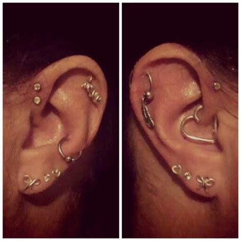 single forwarding left ear forward helix single helix snug