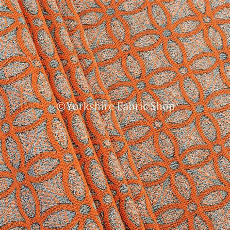 Upholstery Fabric Geometric Pattern by 10 Metre Of Orange Medallion Inspired Geometric Pattern