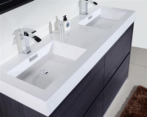 bliss  kubebath modern grey oak vanity double sink