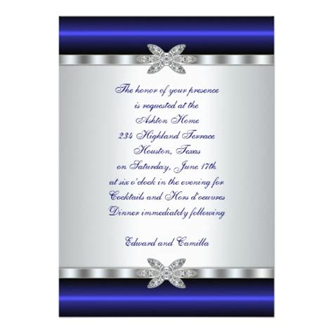 free templates for cocktail invitations silver blue cocktail party invitation template 5 quot x 7