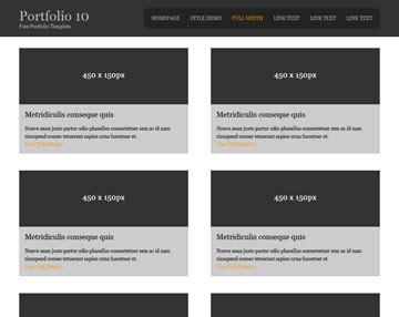 portfolio 10 portfolio templates os templates