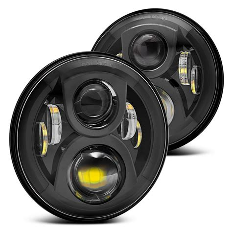 jeep black headlights projector headlights by lumen for your wrangler jk