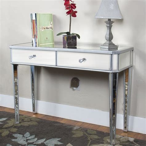 mirrored console vanity table best choice products mirrored console table vanity desk