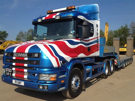 scania t cab for sale with 5 axle faymonville trailer