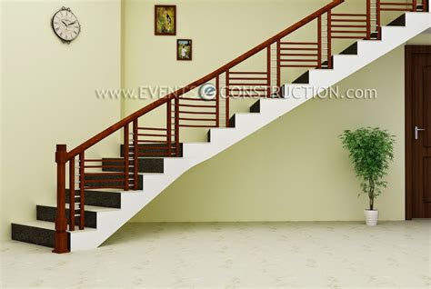 Wooden Staircase Design Evens Construction Pvt Ltd Simple Wooden Staircase Design