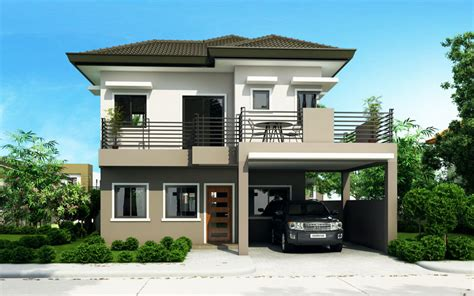home design double story four bedroom two storey house design home design
