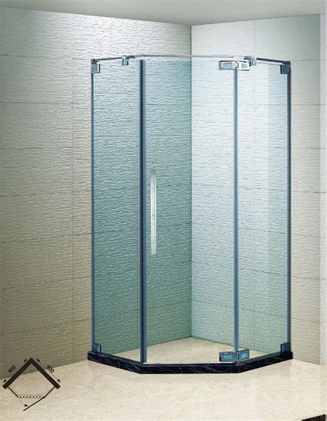 Frameless Shower Door Manufacturers The Best Custom Frameless Neo Angle Shower Enclosure With 375 In Clear Glass And Chrome