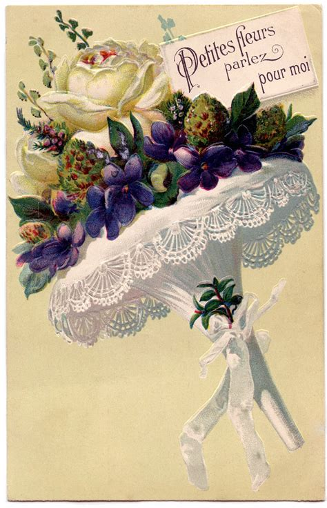 Flower Bunga Vintage Second Preloved Import graphic flower bouquet with lace the graphics