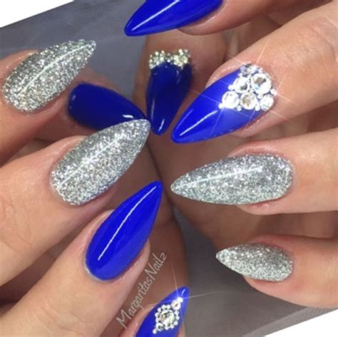Blue And Silver Nail Designs