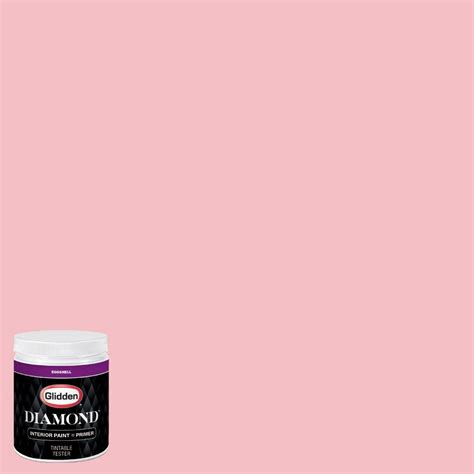 glidden 8 oz hdgr29 cotton pink eggshell interior paint with primer tester