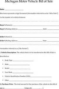 bill of sale motor vehicle template the michigan motor vehicle bill of sale can help you make