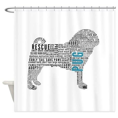 pug shower curtain pug typography shower curtain by learnsharerescue
