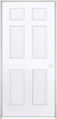 Prehung Prefinished Interior Doors Mastercraft Prefinished Brite Wht Raised 6 Panel Prehung Int Door At Menards 174