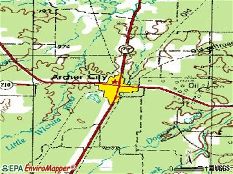 archer city texas map archer city texas tx 76351 profile population maps real estate averages homes