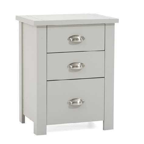 tall bedside cabinets platina wooden tall bedside cabinet in grey with 3 drawers