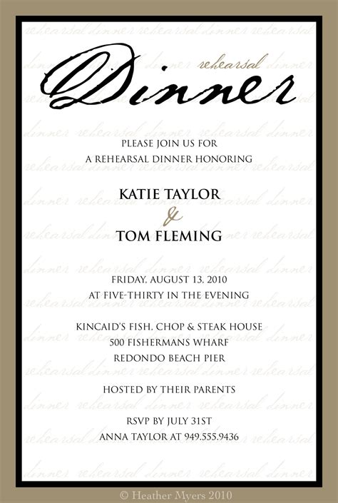 dinner invite template river bridge rehearsal dinner invitation