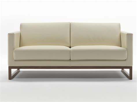 Wood Leather Sofa By Giulio Marelli Italia Design Studio Crgm Wood And Leather Sofa