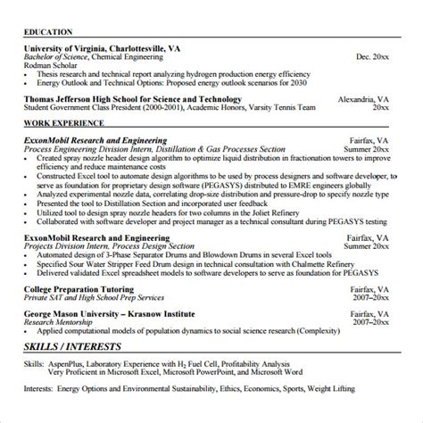 Software Developer Resume Words Sle Software Developer Resume 10 Free Documents In Pdf Word